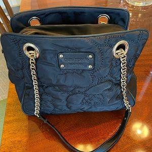 Kate Spade black nylon quilted shoulder bag